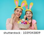happy holiday  mother and her... | Shutterstock . vector #1039343809