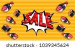 pop art vector illustration.... | Shutterstock .eps vector #1039345624