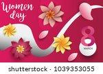 women day 8 march text... | Shutterstock .eps vector #1039353055
