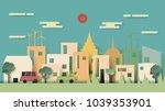 green eco friendly energy city... | Shutterstock .eps vector #1039353901