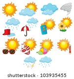 Illustration Of Mixed Weather...