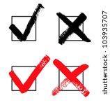 vector check marks | Shutterstock .eps vector #103935707