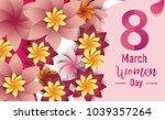 women day 8 march text... | Shutterstock .eps vector #1039357264
