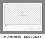 simple wall calendar november... | Shutterstock .eps vector #1039363255