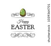 colorful happy easter greeting...   Shutterstock .eps vector #1039364701