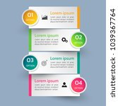 infographics template 4 options ... | Shutterstock .eps vector #1039367764