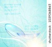 eye lenses for medical... | Shutterstock .eps vector #1039368865