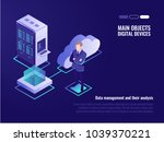 cloud servers  web site hosting ... | Shutterstock .eps vector #1039370221