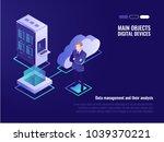 cloud servers  web site hosting ... | Shutterstock .eps vector #1039370221