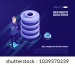 server room rack  data canter... | Shutterstock .eps vector #1039370239
