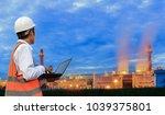 engineering is working in gas...   Shutterstock . vector #1039375801