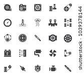 car engine elements vector...   Shutterstock .eps vector #1039378144