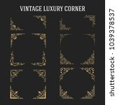 set of vintage luxury corner... | Shutterstock .eps vector #1039378537