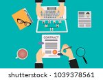 recruitment of human resources  ... | Shutterstock .eps vector #1039378561