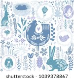 easter seamless pattern in... | Shutterstock .eps vector #1039378867