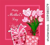 happy mother's day  greeting... | Shutterstock .eps vector #1039380379