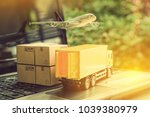 air courier   freight forwarder ... | Shutterstock . vector #1039380979