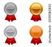 quality medals  platinum  gold  ... | Shutterstock .eps vector #1039381831