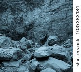 martian landscape of the lost... | Shutterstock . vector #1039383184