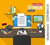 flat design illustration... | Shutterstock . vector #1039384114