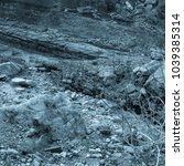 martian landscape of the lost... | Shutterstock . vector #1039385314