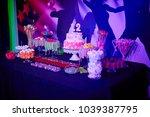 bat mitzvah birthday cake with... | Shutterstock . vector #1039387795