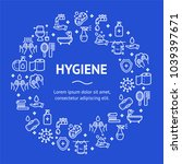 hygiene round design template... | Shutterstock .eps vector #1039397671