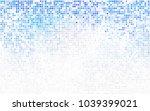 light blue vector blurry... | Shutterstock .eps vector #1039399021