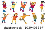 multicultural children and... | Shutterstock .eps vector #1039405369