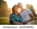 love bond between son and... | Shutterstock . vector #1039408981