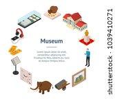 museum exhibits galleries... | Shutterstock .eps vector #1039410271