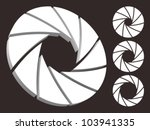 set of aperture logo. | Shutterstock .eps vector #103941335