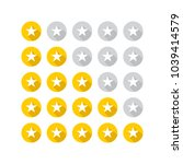 set of yellow rating stars.... | Shutterstock .eps vector #1039414579