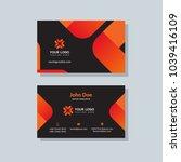 modern business card template... | Shutterstock .eps vector #1039416109