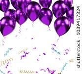 Purple Metallic Baloons On The...