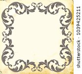 retro baroque decorations... | Shutterstock .eps vector #1039425211