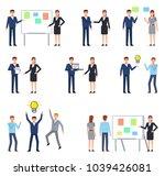 big set of people showing... | Shutterstock .eps vector #1039426081