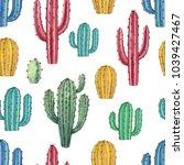 watercolor seamless pattern of... | Shutterstock . vector #1039427467