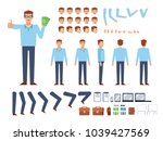 businessman creation kit.... | Shutterstock .eps vector #1039427569