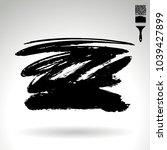 black brush stroke and texture. ...   Shutterstock .eps vector #1039427899