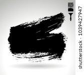 black brush stroke and texture. ... | Shutterstock .eps vector #1039427947