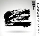 black brush stroke and texture. ...   Shutterstock .eps vector #1039428094