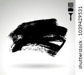 black brush stroke and texture. ...   Shutterstock .eps vector #1039429531