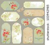 Set Of Vector Vintage Cards...