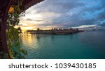 mabul island sunset view from...   Shutterstock . vector #1039430185