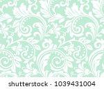 flower pattern. seamless white... | Shutterstock .eps vector #1039431004