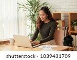 female technical support... | Shutterstock . vector #1039431709