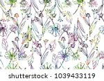 bright seamless pattern with... | Shutterstock . vector #1039433119