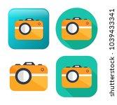 vector camera icon   digital... | Shutterstock .eps vector #1039433341