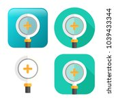 zoom in icon   magnifying glass ...   Shutterstock .eps vector #1039433344